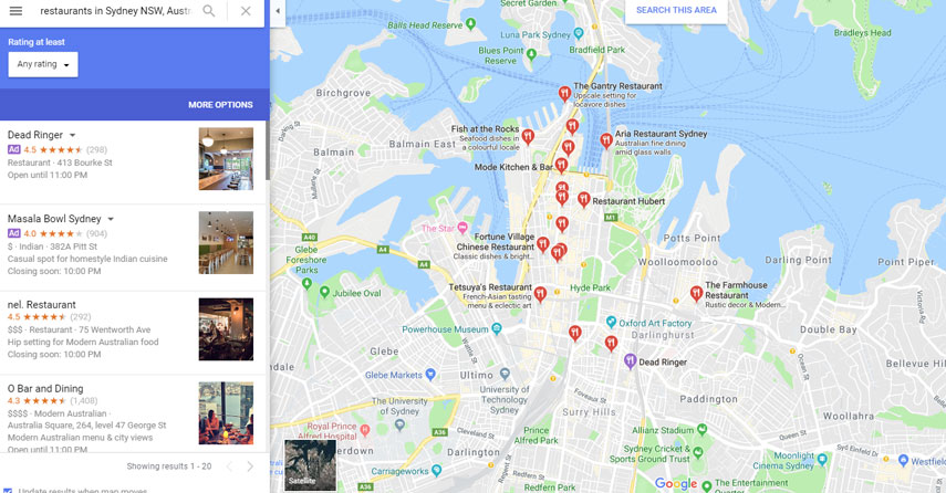 Ranking your Restaurant High in Google Maps